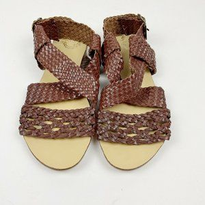 Urban Outfitters Ecote Brown Woven Strap Sandals